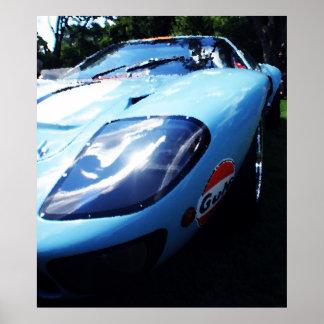 GT40 Gulf Poster