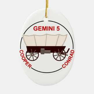 """GT 5:  """"Gordo"""" Cooper and Pete Conrad Ceramic Ornament"""