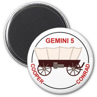 "GT 5:  ""Gordo"" Cooper and Pete Conrad Magnet"
