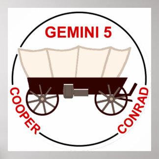 """GT 5:  """"Gordo"""" Cooper and Pete Conrad Poster"""
