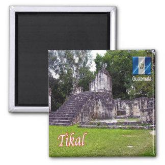 GT - Guatemala - Tikal - Flickr 2 Inch Square Magnet