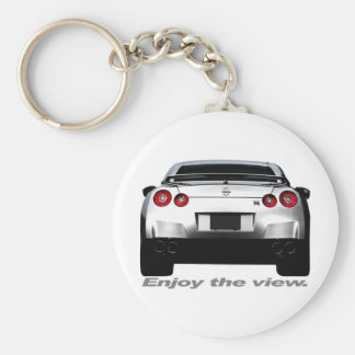 "GT-R ""Enjoy the view."" Keychain"