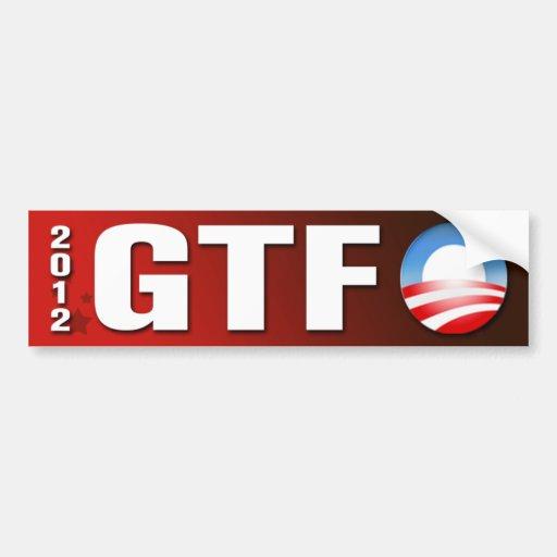 GTF O Bumper Sticker Car Bumper Sticker