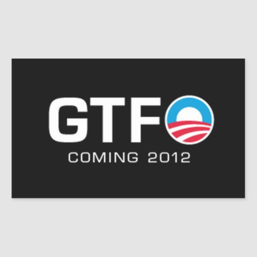 GTFO - Coming 2012 Rectangle Stickers