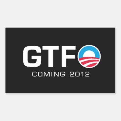 GTFO - Coming 2012 Rectangular Sticker