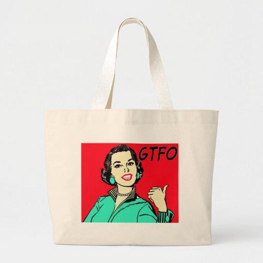 GTFO Gal Jumbo Tote Bag