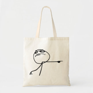GTFO Get Out Guy Rage Face Comic Meme Tote Bags