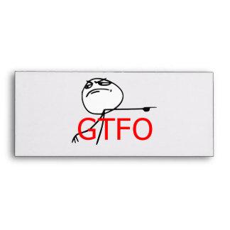 GTFO Get Out Guy Rage Face Comic Meme Envelope