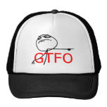 GTFO Get Out Guy Rage Face Comic Meme Mesh Hats