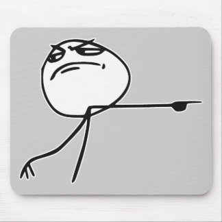 GTFO Get Out Guy Rage Face Comic Meme Mouse Pad