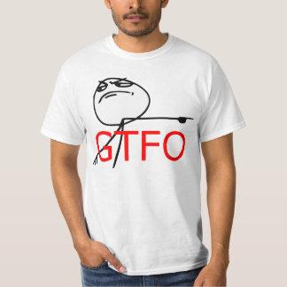 GTFO Get Out Guy Rage Face Comic Meme T-Shirt