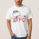 GTFO salen de la cara Meme cómico de la rabia del Remeras