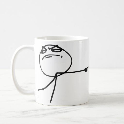 GTFO salen de la cara Meme cómico de la rabia del  Taza De Café