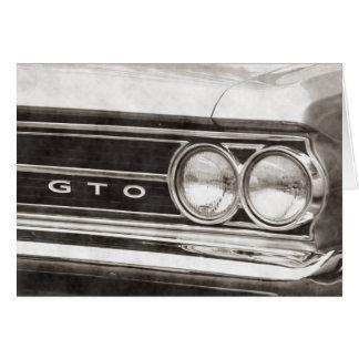 GTO Classic Car Card