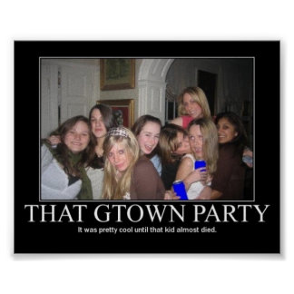 gtown party poster
