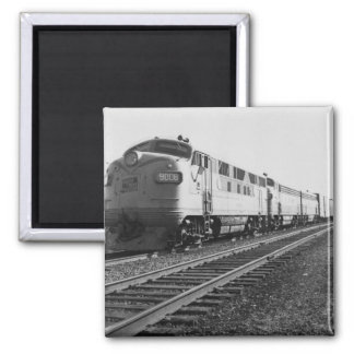 GTW Diesel Engine #9008 Train #92 Eastbound 2 Inch Square Magnet