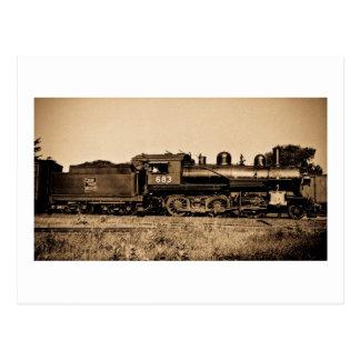 GTW Locomotive Engine #683 at Bay City MI Postcard
