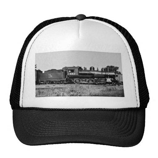 GTW Locomotive Engine #683 at Bay City MI Trucker Hat