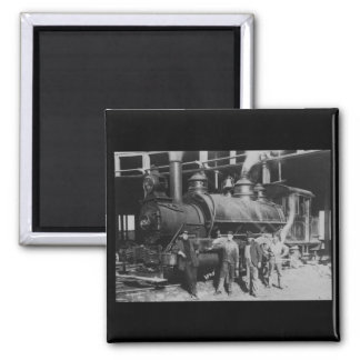 GTW Steam Engine #1252 at the Roudhouse 2 Inch Square Magnet