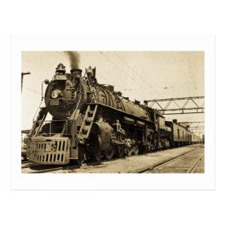 GTW Steam Engine #6335 Train #17 Postcard