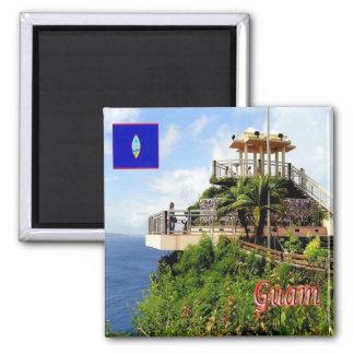 GU - Guam - Puntan Dos Amantes 2 Inch Square Magnet