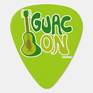 Guac encendido púa de guitarra