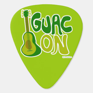 Guac On Guitar Pick