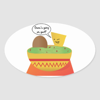 Guac Party Oval Sticker