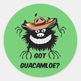 Guacamole conseguido pegatina redonda