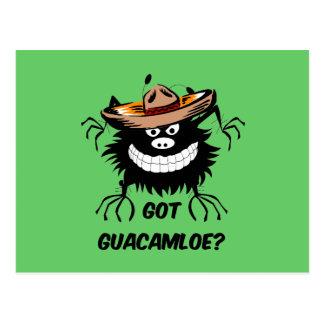Guacamole conseguido postal