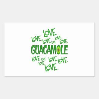 Guacamole del amor del amor pegatina rectangular