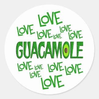 Guacamole del amor del amor pegatina redonda