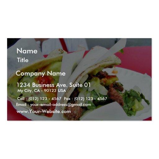 Guacamole del Tacos de Carne Asada Tarjetas De Visita
