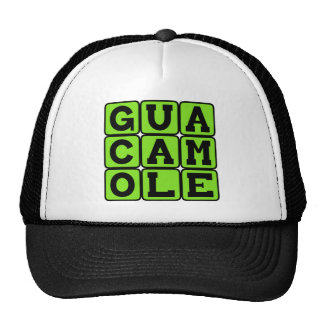 Guacamole, inmersión del aguacate gorro de camionero