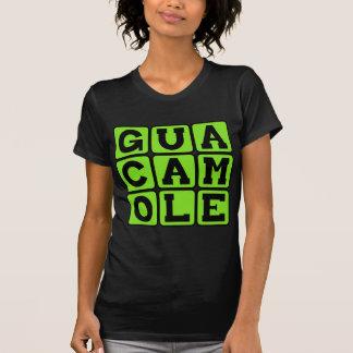Guacamole, inmersión del aguacate camisetas