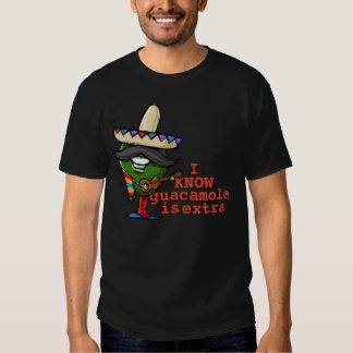 Guacamole is Extra.Avocado.Mexican.Sombrero.Guitar Tshirts
