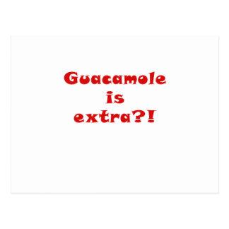 Guacamole is Extra Postcard