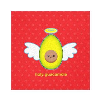 Guacamole santo impresión en tela