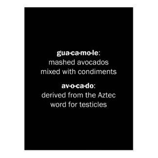 Guacamole Testicles Postcard