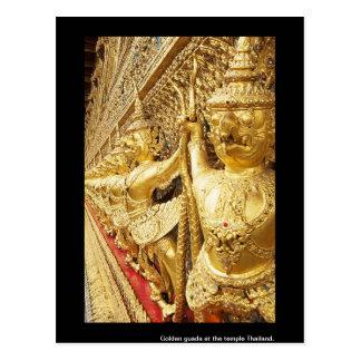 Guada de oro en el templo Tailandia Postales