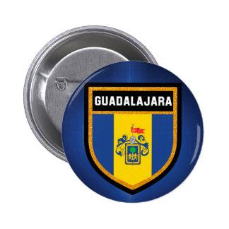 Guadalajara Flag Pinback Button