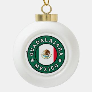 Guadalajara Mexico Ceramic Ball Christmas Ornament