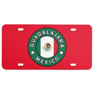 Guadalajara Mexico License Plate