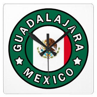 Guadalajara México Reloj Cuadrado