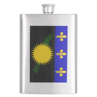 Guadaloupe Flag Hip Flask