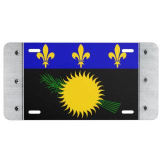 Guadaloupe Flag License Plate