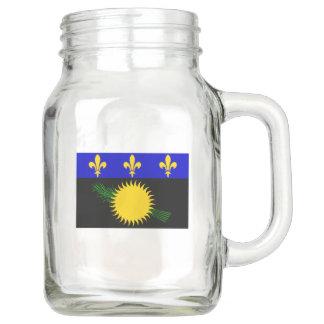 Guadaloupe Flag Mason Jar