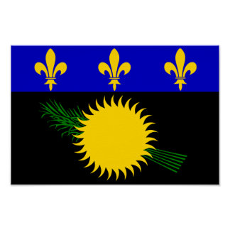Guadaloupe Flag Poster