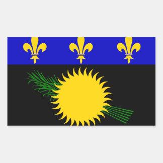 Guadaloupe Flag Rectangular Sticker