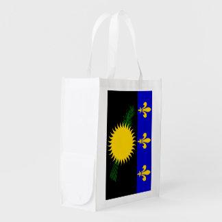 Guadaloupe Flag Reusable Grocery Bag
